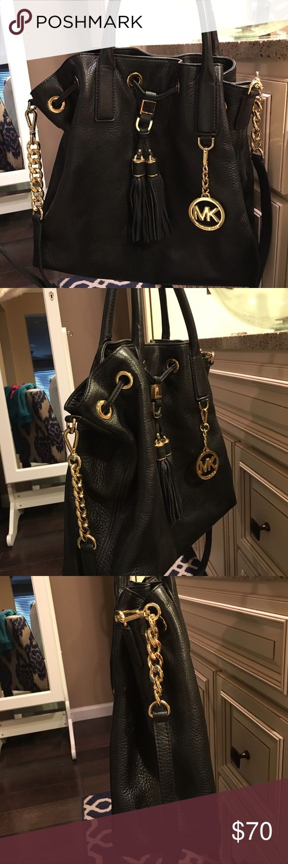 Michael Kors purse Beautiful MK black purse! Used 2x. Perfect condition. I never carry it so up for trade or to pass along! OBO KORS Michael Kors Bags Satchels