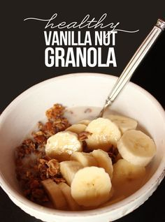 Vegan, Daniel-Fast approved healthy granola. #sugarfree #danielfast #granola #recipe #healthy #vegan #glutenfree #gf #fitmama #oats #nuts