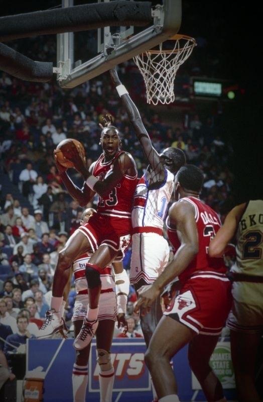 Michael Jordan Chicago Bulls Charles Oakley Manute Bol