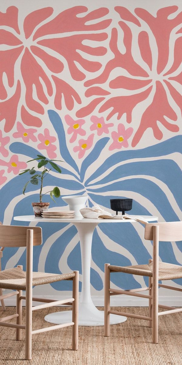 Psychedelic Agapanthus Wall Mural In 2020 Wall Murals Wallpaper Psychedelic
