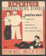 Hoffmeister - JEŽEK, JAROSLAV:  BABIČKA MARY. - 1935. Slova Voskovec a Werich. Osvobozené divadlo.