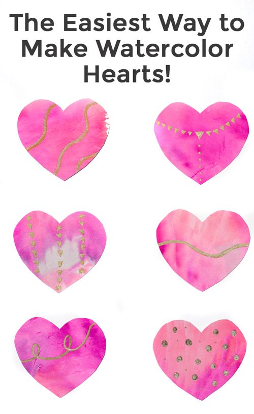 The 25+ best Watercolor heart ideas on Pinterest | Valentines day ...