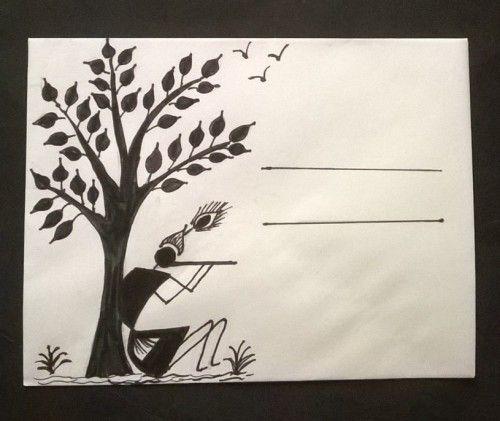 warli envelopes - kids art