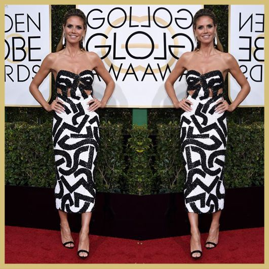 Heidi Klum, Golden Globe Awards 2017, MyFashgram