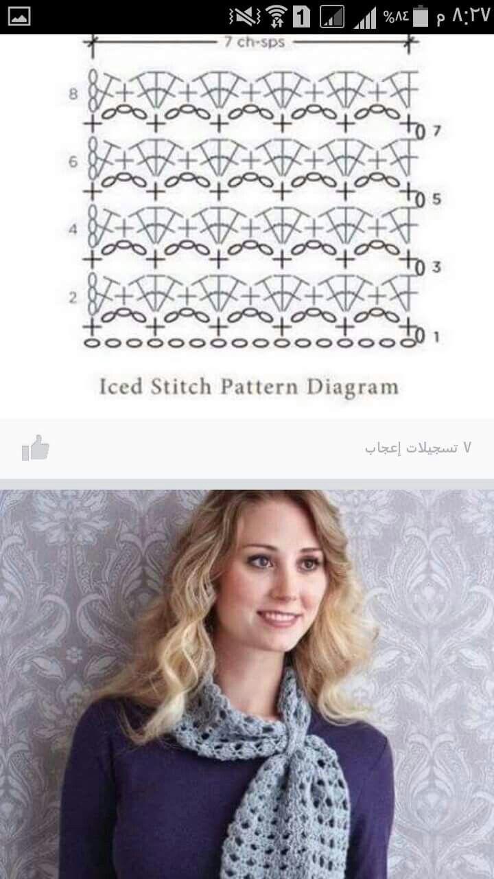 Mejores 75 imágenes de bufandas tejidas en Pinterest | Patrones de ...