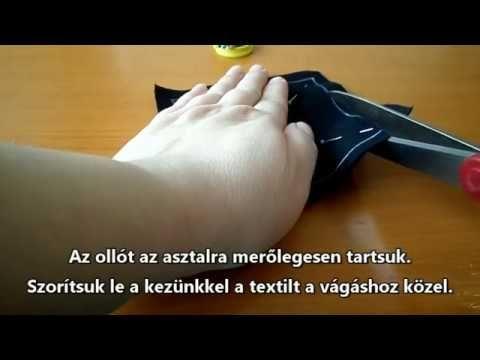 (51) Öltésről öltésre varrótanfolyam 05. Első vágások - YouTube