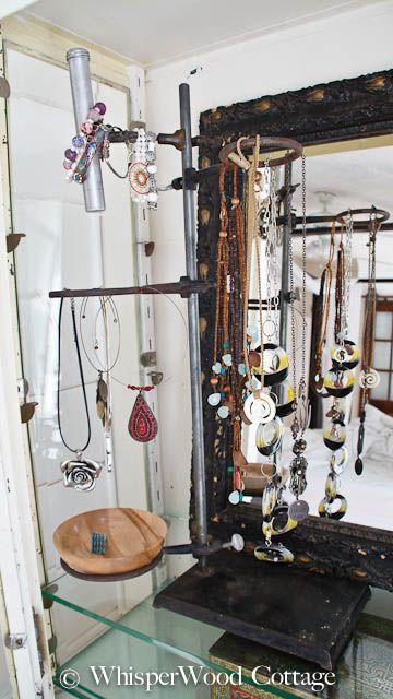 bunson burner stand as jewelry organizer