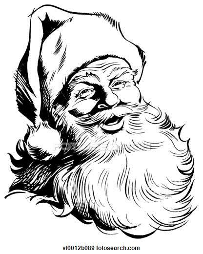 Clip Art of Santa Claus vl0012b089 - Search Clipart, Illustration Posters, Drawings, and EPS Vector Graphics Images - vl0012b089.jpg (Large)