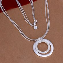 Envío gratis Popular N056 Plateado plata de la manera Hermosa Elegante encanto…