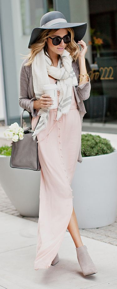 Wear your summer maxi in the fall