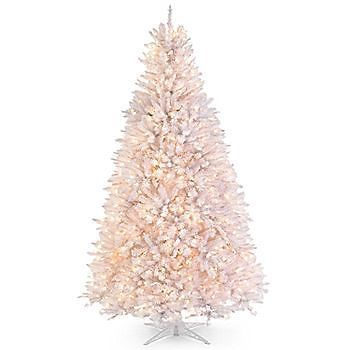 Christmas Tree 6.5 White Alaskan Spruce Pre Lit Clear Lights Snow Mountain King