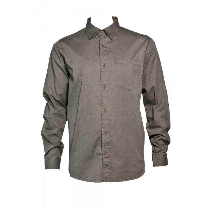 $129 mr simple banks vintage solid shirt / olive / s-xxl #superettegetthelook