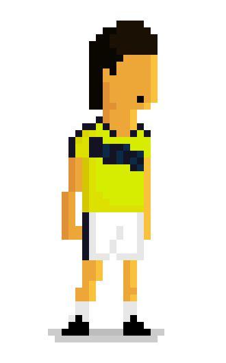 Radamel Falcao Garcia from No. 9 Colombia team