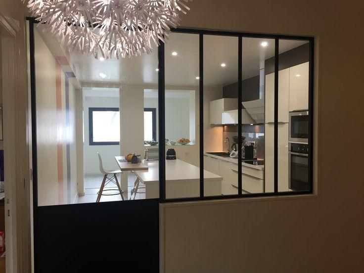 32 best cuisines avec verri re images on pinterest cuisine avec verri re cuisine semi ouverte. Black Bedroom Furniture Sets. Home Design Ideas