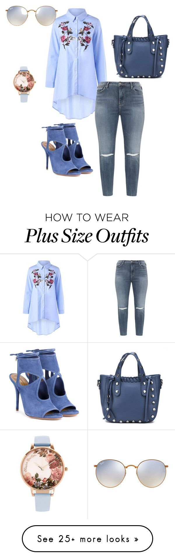 """Jeans"" by carolortiz on Polyvore featuring Silver Jeans Co., Aquazzura, Olivia Burton and Ray-Ban #women'sfashionstyleideas"