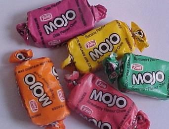 We could get a bag full of Penny Candy for a dime. Candy like Mojo's were 5 for a penny. They didn't have any twists in the wrapper though... they had neat envelope style folds at either end. Peppermint was my favourite!