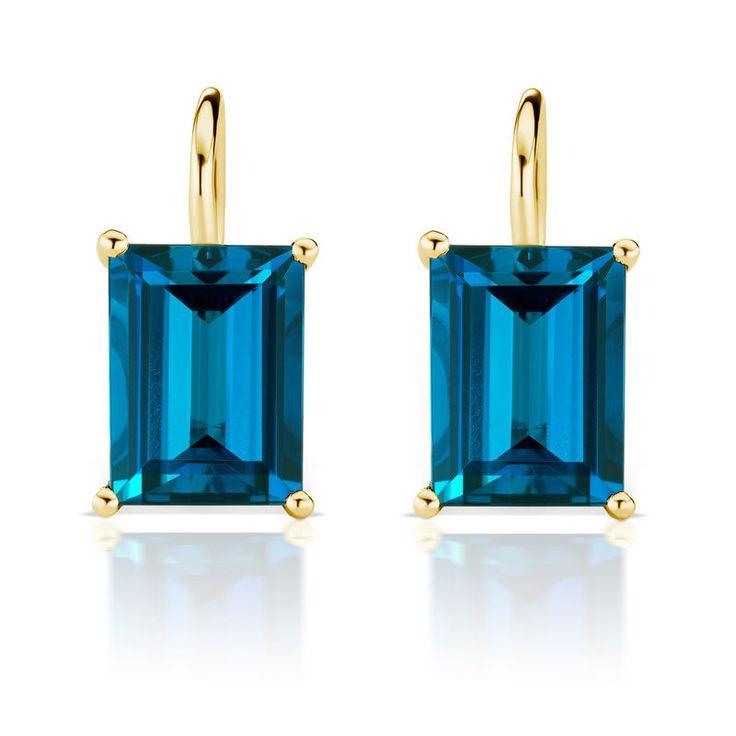 Jane Taylor London Blue Topaz Drop Earrings - Greenwich Jewelers - http://www.greenwichjewelers.com