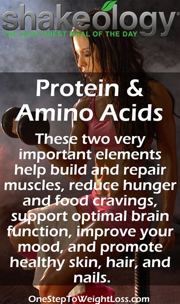 Protein & Amino Acids are amazing little guys that will greatly benefit your health. Are you eating enough protein & amino acids? http://www.shakeology.com/daniela03