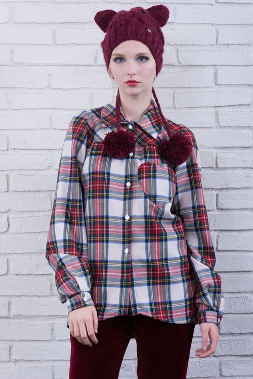 cod 170 & cod 177 plaid shirt heart made in italy grunge boho chic style