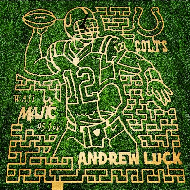 Andrew Luck: Corn Maze Edition