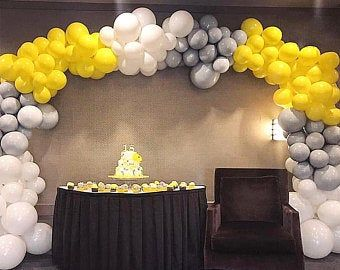 PartyWoo Gray and White Balloons, 70 pcs 12 In Gray Balloons, White Balloons, Gold Confetti Balloons, Matte Balloons, Balloons Gray