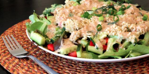 Almond Ginger Quinoa Salad