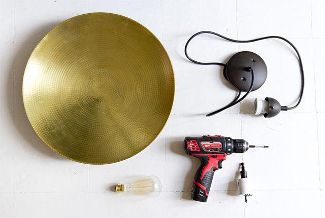 Sarah Sherman Samuel:DIY a Modern Pendant Lamp | Sarah Sherman Samuel
