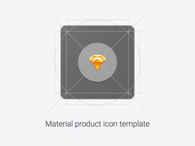 Material Product Icon Template on UI Space