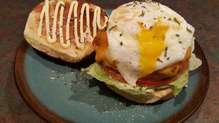 Wagyu Bacon Cheese Burger with Egg.