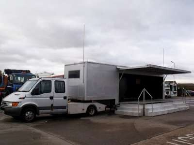 Fantastic exhibiion/hospitality unit - it's got the works and is ready to go http://www.trucklocator.co.uk/view-truck-for-sale.php?van=108399=Iveco-Daily