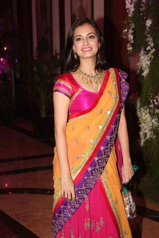 Dia Mirza @ Ritesh Deshmukh & Genelia D'Souza's Sangeet Ceremony