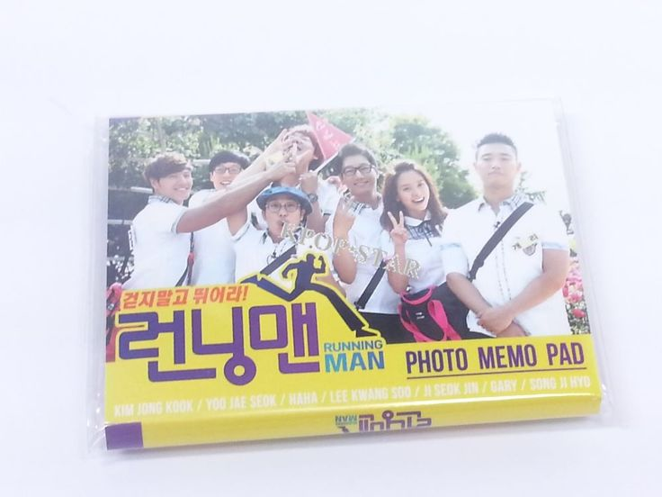 Running Man RunningMan Portable Photo Memo Pad K Drama Korean K Pop Star