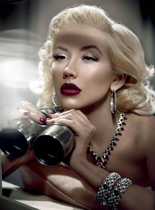 Stunning Christina Aguilera by Vincent Peters.Christina Aguilera, Old Hollywood, Hollywood Glamour, Makeup, Beautiful, Stephen Webster, Pinup, Hair, Christinaaguilera