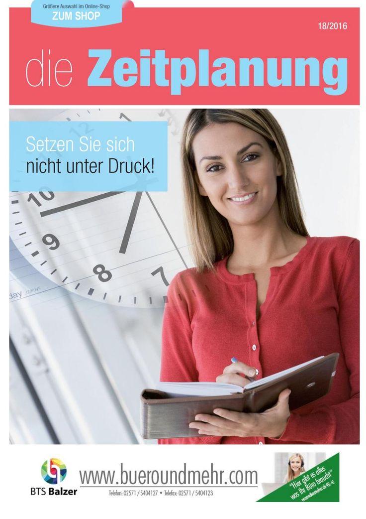 """Themenwelt """"Die Zeitplanung""""  btsbalzer.de shop.bueroundmehr.com 2016"""