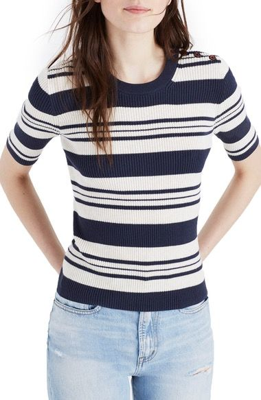 MADEWELL Ribbed Sweater Top. #madewell #cloth #