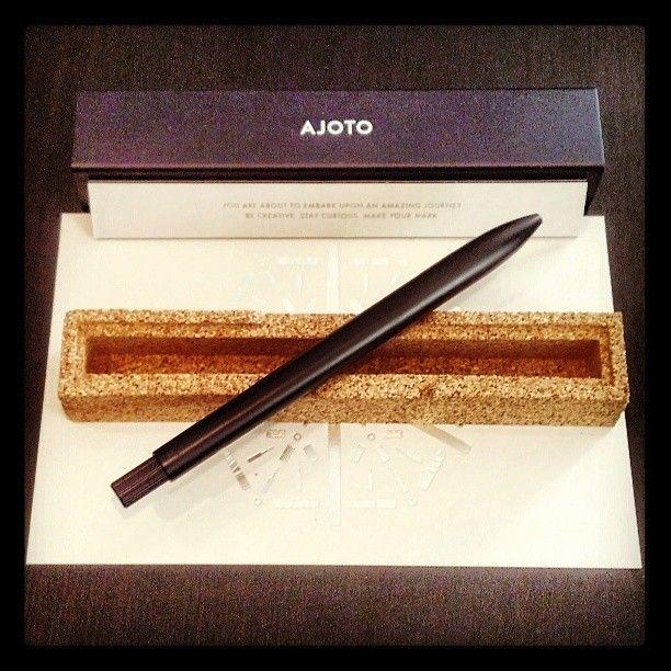 INSTAGRAM: Hell yeah f'n write. Sleek + sexy new pen, beautifully packaged. #AJOTO #pens #kickstarter #makeyourmark - Mae Carr (@Kristine Mae)