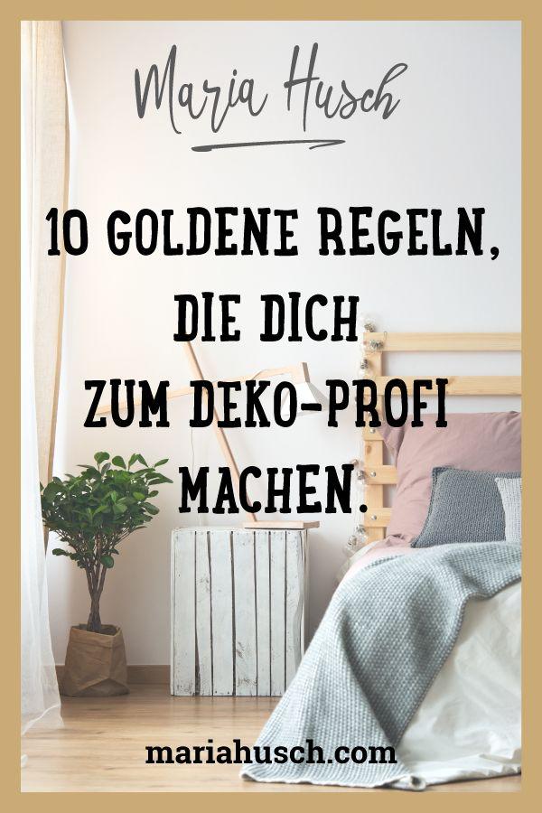 Dekoration – 10 goldene Regeln, die dich zum Profi machen.
