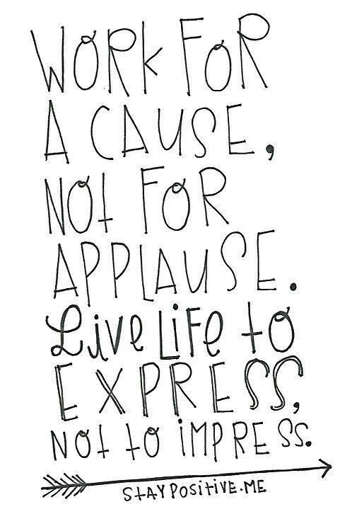 Applause #applause #life #typography quote