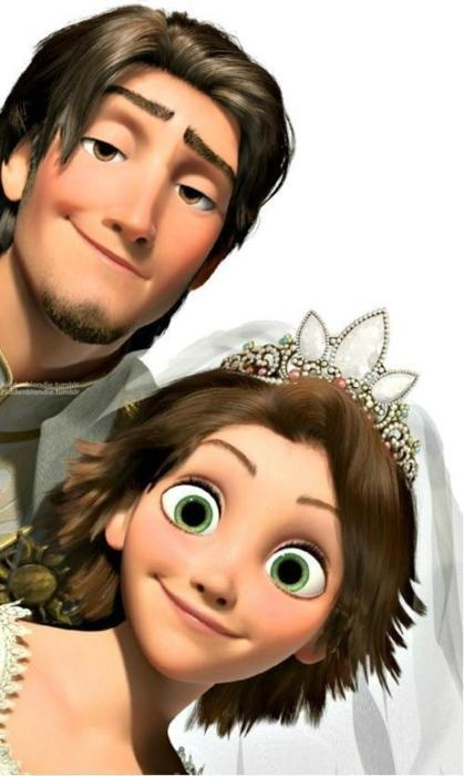 One of my co-workers took her kids to see this movie, and afterwards told me she immediately thought: that's Kendra.  Best compliment ever. Love Tangled.