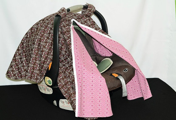 Car seat canopy to shade Madelyn from the sun