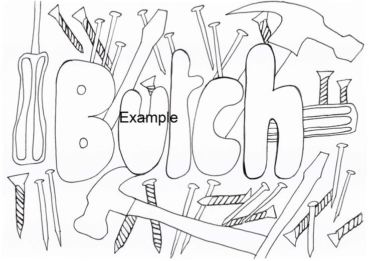 Butch, LGBTIAPQ, Adult Colouring in by ArachneArt on Etsy