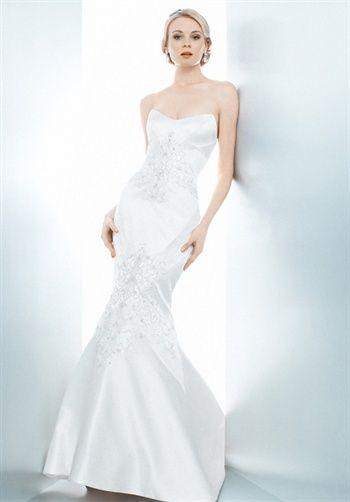 Matthew Christopher Bianca. Silhouette: Fit-N-Flare. Waist: Princess. Gown Length: Floor. Fabric: Silk Duchess Satin