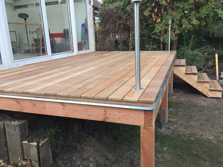 25 b sta id erna om terrasse unterkonstruktion p pinterest holzboden terrasse. Black Bedroom Furniture Sets. Home Design Ideas