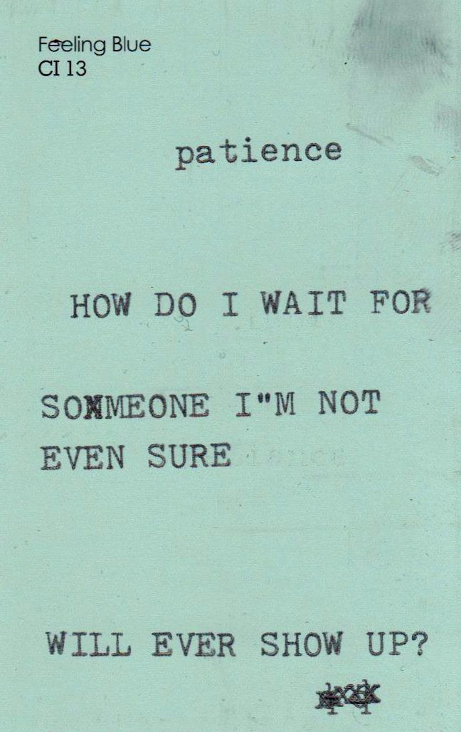 patience is definitely a virtue. It's hard to wait for someone you really love.