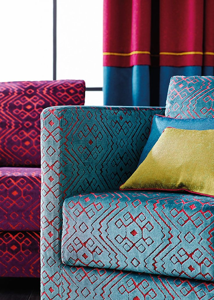 17 meilleures images propos de tissus ameublement canap sur pinterest textiles papier. Black Bedroom Furniture Sets. Home Design Ideas