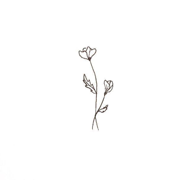 Best Locations For Small Tattoo Designs Tattoos Simple Flower Tattoo Poppies Tattoo