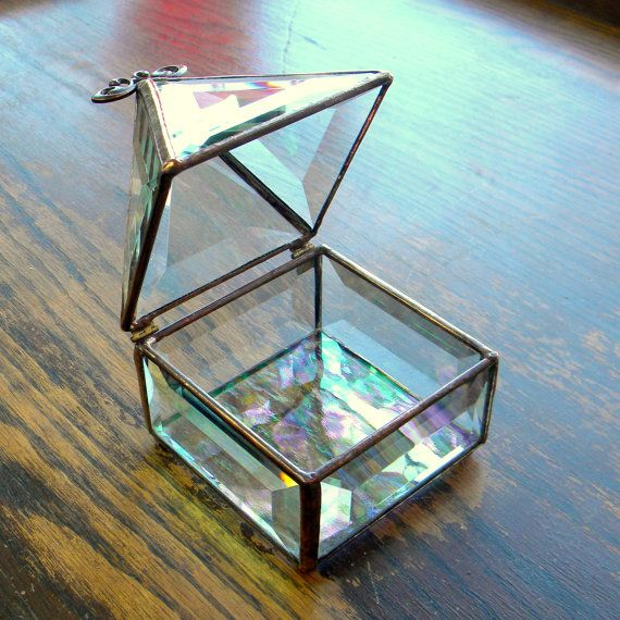 "3 x 3"" Stained Glass Jewelry Box"