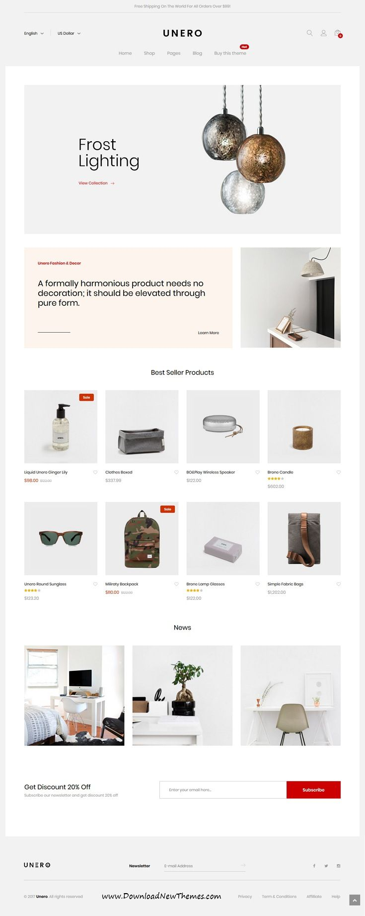 Unero is clean and modern design responsive multipurpose #OpenCart #theme for stunning #webshop eCommerce #website with 18+ niche homepage layouts to live preview & download click on image or Visit