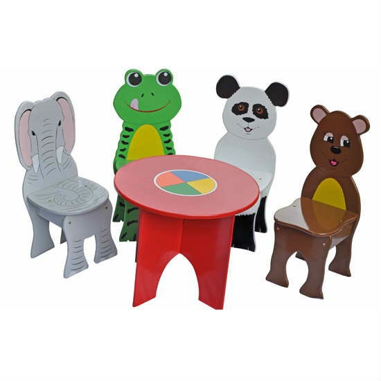 Superb Childrens Furniture Jungle Animals Childrens Table U0026 Chairs Set