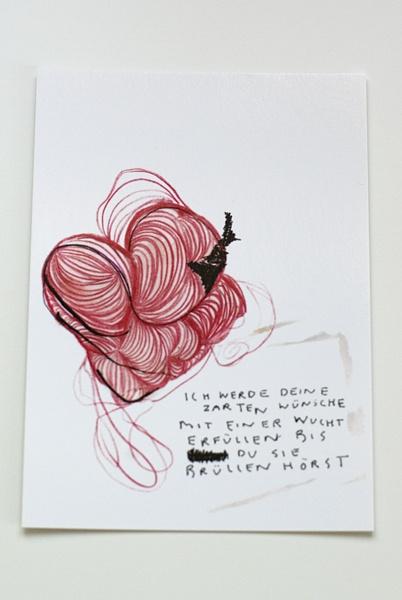 """eine feine Zuneigungs-Grußkarte """"deine Wünsche""""  auch ziemlich gut für den Liebesgruß am Valentinstag!  von Sophia A. K.    .  sehr stabil (350g/m2),"""